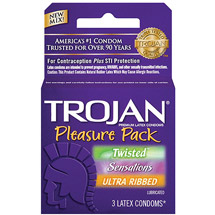 Trojan Lubricated Condoms Pleasure Pack