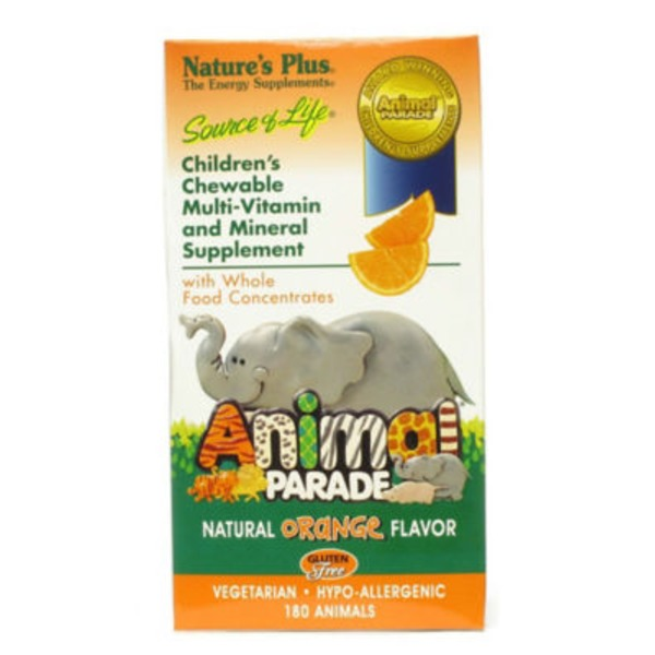 Nature's Plus Animal Parade Children's Orange Flavor Chewable Multi Vitamin
