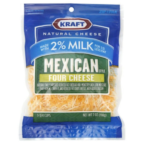 Mexican Style Four Cheese W/2% Milk Shredded Cheese