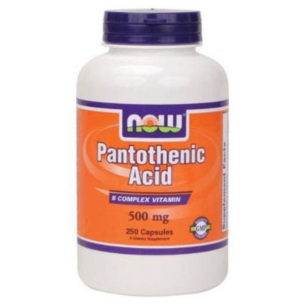Now Pantothenic Acid 500 mg Capsules