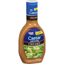 Great Value Light Creamy Caesar Salad Dressing