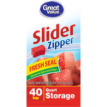 Great Value Quart Size Slider Bag