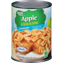 Great Value No Sugar Added Apple Pie Filling