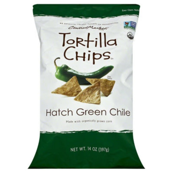 Central Market Organics Hatch Green Chile Tortilla Chips