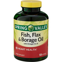 Spring Valley Fish Flax & Borage Oil Dietary Supplement Softgels