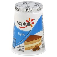 Yoplait Light Boston Cream Pie Fat Free Yogurt