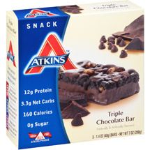 Atkins Triple Chocolate Snack Bars