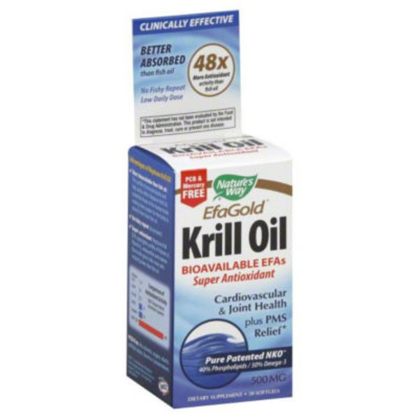 Nature's Way EfaGold Krill Oil 500mg Softgels - 30 CT