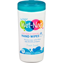 Wet-Nap Fresh Scent Antibacterial Hand Wipes