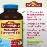 Nature Made Organic Flaxseed Oil 1400mg