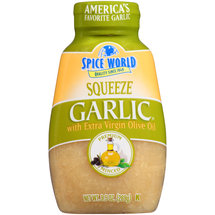 Spice World Premium Squeeze Minced Garlic with Olive Oil