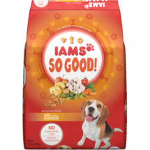 Iams So Good! Dry Dog Food Wholesome Blends with Savory Chicken