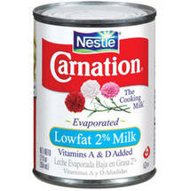 Carnation Vitamins A & D Added Lowfat 2% Evaporated Milk