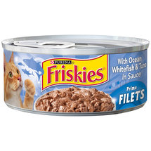 Purina Friskies Prime Filets with Ocean Whitefish & Tuna in Sauce Cat Food
