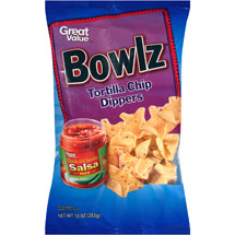 Great Value Bowlz Tortilla Chip Dippers