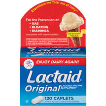 Lactaid Original Lactase Enzyme Supplement Caplets