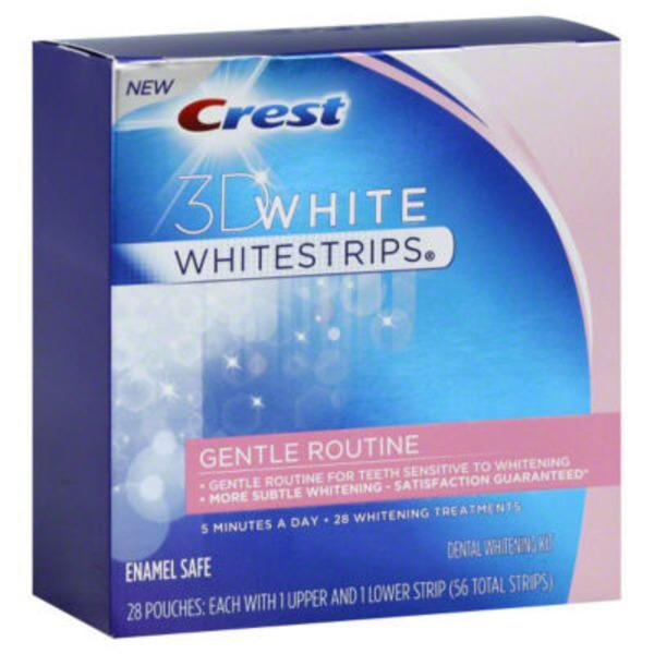 Crest Whitest Dly MultiCare Wht Sys Crest 3D White Whitestrips Gentle Routine - Teeth Whitening Kit 28 Treatments Whitening/Sensitivity