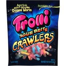Trolli Sour Brite Crawlers Gummi Worms Candy