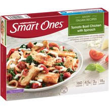 Weight Watchers Smart Ones Smart Creations Tomato Basil Chicken with Spinach