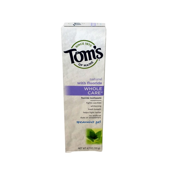 Toms of Maine Toothpaste, Fluoride, Spearmint Gel