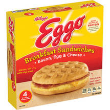 Kellogg's Eggo Bacon Egg & Cheese Breakfast Sandwiches