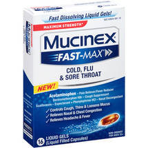 Mucinex Fast-Max Cold Flu & Sore Throat Liquid Gels