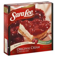 Sara Lee Original Cream Cheesecake Strawberry Flavor