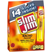 Slim Jim Nacho Flavored Smoked Snack Sticks