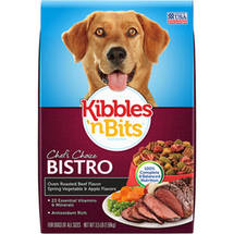 Kibbles 'n Bits Bistro Oven Roasted Beef Flavor with Spring Vegetable & Baked Apple Flavors Dry Dog Food