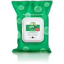 Yes To Cucumbers Hypoallergenic Facial Towelettes