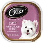 Cesar W/ Chicken & Beef In Meaty Juices Puppy Food