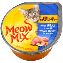 Meow Mix Market Select Real Tuna & Whole Shrimp In Sauce Wet Cat Food