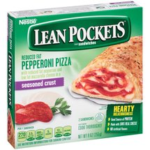 Lean Pockets Reduced Fat Pepperoni Pizza Sandwiches