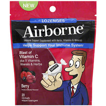 Airborne Immune Support Supplement with Vitamin C Lozenges