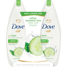 Dove go fresh Cool Moisture Body Wash 22 oz Twin Pack