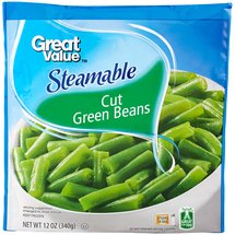 Great Value Steamable Cut Green Beans