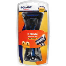 Equate 5 Blade Razor for Men with Trimmer