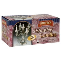 Rokeach Candles Shabbos - 72 CT