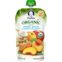 Gerber 3rd Foods Organic Peaches Apricots & Carrots with Yogurt Baby Food