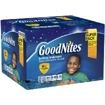 GoodNites Boys' Bedtime Underwear Super PackL/XL 34 ct