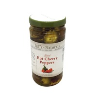 Jeff's Naturals Cherry Peppers, Hot, Sliced
