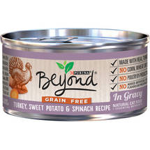 Purina Beyond Grain-Free Turkey Sweet Potato and Spinach Recipe in Gravy Canned Cat Food