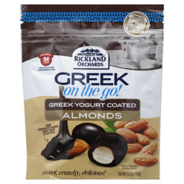 Rickland Orchards Greek On The Go! Greek Yogurt Coated Dark Chocolate Almonds