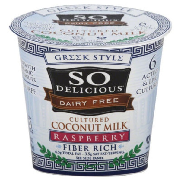 So Delicious Greek Style Dairy Raspberry Coconut Milk