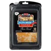 H-E-B 2% Thin Sliced Colby Jack