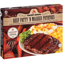 Night Hawk Beef Patty 'N Mashed Potatoes Frozen Entree