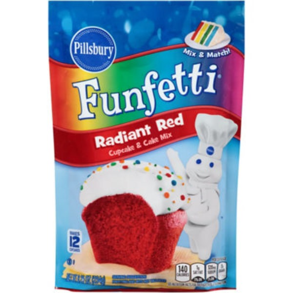 Pillsbury Funfetti Radiant Red Cupcake & Cake Mix