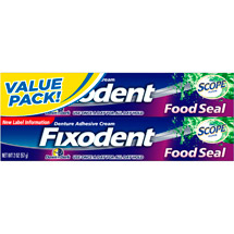 Fixodent Food Seal Plus Scope Flavor Denture Adhesive Cream