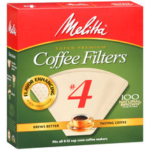 Melitta #4 Coffee Filters Natural Brown