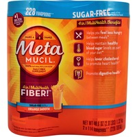 Metamucil Smooth Metamucil Psyllium Fiber Supplement by Meta Orange Smooth Sugar Free Powder Twin Pack 46.6 oz 114 doses Laxative